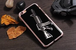Wholesale 3D Gun For Iphone S Plus I6S SE S TH Hard PC Case Rifle Pistol Toy Best Touch skin Creative knife Cell Phone Protective Cover
