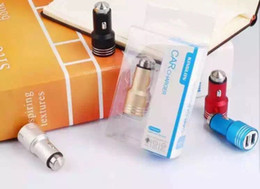 Wholesale Cell Phone Chargers For Smart Car Charger For Double USB Interface For Metal Belt Cover Round Car Charger