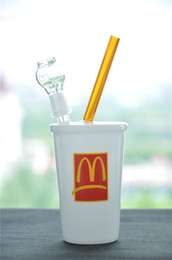 McDonald's cup Glass Bongs bowl piece And Glass Nail Bubbler Water Pipe concentrate oil rigs Dabber