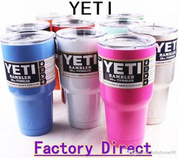 Wholesale 30oz oz Yeti Cups Cooler YETI Rambler Tumbler Cup Vehicle Beer Mug Double Wall Bilayer Vacuum Insulated ml ml High Quality Factory