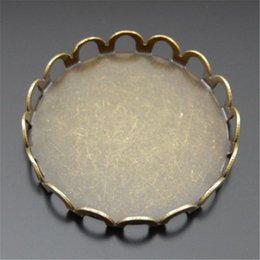Wholesale 20PCS Antique Bronze Steel Round Backing Board Pendant Charm Jewelry Finding MM jewelry making