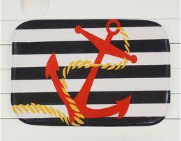 Wholesale Red anchor household bedroom door non slip mat mixed batch of factory custom carpet