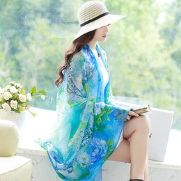2016 new Autumn vintage silk scarves women casual gorgeous print scarf shawl wrap 20 Color Free shipping