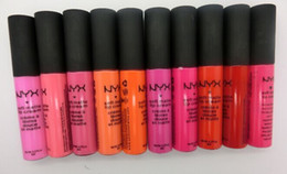 Matte NYX Lip Cream LipGloss Lipstick Vintage Long Lasting NYX Lip Gloss 12 colors 240pcs lot wholesale