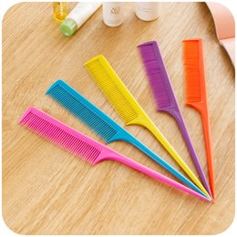 Wholesale New 1 Pcs Tail Comb Black Pattern Plastic Fine Tooth Pointed Pro Salon Hairstyle Hair Styling Tools