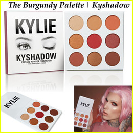 Wholesale IN STOCK Kylie Jenner Kyshadow Burgundy Palette Eyeshadow Of Your Dreams Kylie Makeup Eye Shadow pressed powder palette Burgundy Colors
