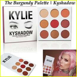 Wholesale IN STOCK Kylie Jenner Kyshadow Burgundy Palette Eyeshadow Of Your Dreams Kylie Makeup Eye Shadow pressed powder palette Burgundy Colors
