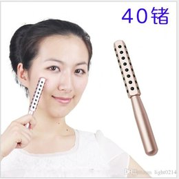 Wholesale 1pcs KAKUSAN Germanium Stones Face Massager Facial Beauty Roller Reduce Wrinkle Japan Semiconductor Beauty Bar
