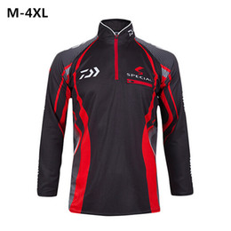 Wholesale-2016 Summer Daiwa Brand Men Clothes breathable Polyester Quick drying Long Sleeve Shirt Plus Size 4XL chemise homme