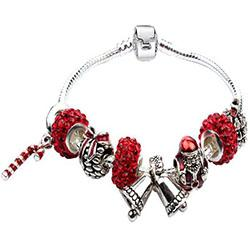 Wholesale The New Christmas DIY Beaded Bracelet With Christmas Bells And Christmas Cane Jewelry Gift Hot Products