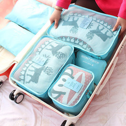Wholesale 6PCS Summer Style Travel Storage Bag Set For Clothes Tidy Organizer Pouch Suitcase Handbag Home Closet Divider Drawer Organiser