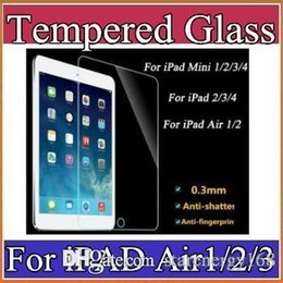 2016 0.3mm 9H Tablet PC Tempered Glass Screen Protector For iPad Mini 2 3 4 iPad2 3 4 iPad Air Air 2 iPad Pro Explosion-proof Film A-PG