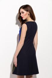 Unique Elegant High end Character Embroidery Vintage Dress Simple O-Neck Women A-line Dresses