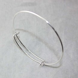 Wholesale PROMOTION Silver Gold Tone Expandable Alex And Ani Wire Bangle Bracelet For Beading Or Charms Jewelry DIY