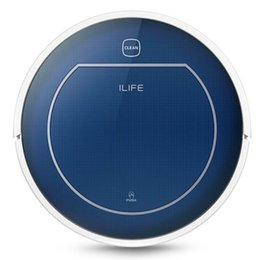 Wholesale ILIFE V7 Super Mute Sweeping Robot Home Vacuum Cleaner Dust Cleaning with mAh Li battery SAPPHIRE BLUE