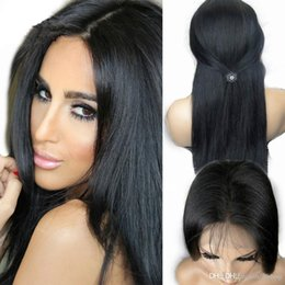 Célébrités de couleur naturelle des cheveux en Ligne-Vente chaude de cheveux indiens cheveux pleine perruques dentelle célébrité avant dentelles perruques couleur naturelle 130% de densité en stock