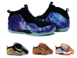 Wholesale Foampositeone Shooting Stars Penny hardaway mens basketabll shoes athletic foams outdoor sports sneaker foam trainer Galaxy