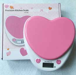Wholesale Best selling g g kg Food Diet Postal Kitchen Digital sweet heart Scale balance weight LED electronic