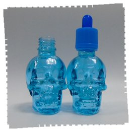Unique 30 ml glass dropping e bottle eliquid children cap and evidence of the matte Marine Blue transparent tube free shipping