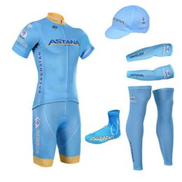 Wholesale 2016 New Team ASTANA Cycling Jerseys Breathable Short sleeved Suit Bike Clothing Mountain Biking Necessary Equipment Cycling Clothes Sets