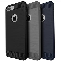 Wholesale For iPhone High End TPU Carbon Fibre Soft Shell Case Cover for iphone PLUS Anti Shock Full Production Case