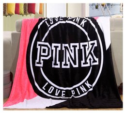 Wholesale Pink VS Soft Blanket velvet baby kids blankets Manta Fleece Blanket Sofa Bed Plane Travel Plaids