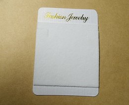 100 white necklace Jewellery Display Cards