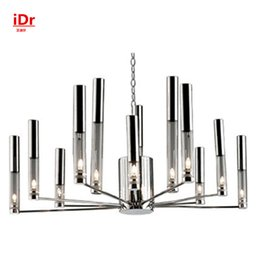 Wholesale modern Living room crystal chandelier penthouse floor luxury villa hotel lobby lamps simple fashion crystal lights head