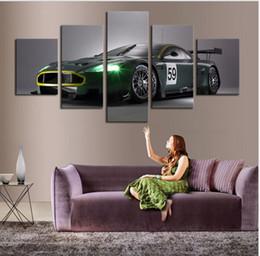 2017 marcos de carreras 5 P (sin marco) Dream Racing Green Wall Art Picture Decoración de la casa Decoración de la sala de estar Impresión de la lona Impresión de la pared de la pintura de la lona en lona marcos de carreras outlet
