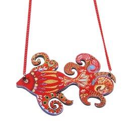 Fish Necklace Acrylic Pattern Choker Collar Pendant Cute Animal Design Fashion Jewelry 2016 New For Women Girls Accessory