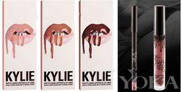 8colors 2016 NEW Kylie Lip Gloss Lipstick Boxset 1 Lipstick + 1 Lipliner Kylie Jenner Matte Lipstick 30pieces