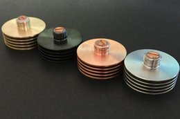 Wholesale Heat Sink Adaptor Finned Heat Sink Insulator for Rebuildable Thread Bottom Attached mm RDA RBA Atomizers Overheating Protection