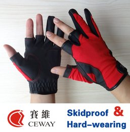 Fishing Outdoor Sports Glove Comfortable PU Anti Slip Resistant Fish Fishing Gloves Mitten Mittens Equipments Tackle New 2017 FREE SHIPPING