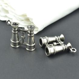 wholesale 30pcs Vintage tibetan silver telescope charms metal pendants for diy necklace & bracelets jewelry fitting 23*22mm 22101