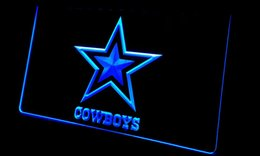 2017 panneaux de cowboy LS178-b Dallas Cowboys NR Super Bowl Neon Light Sign abordable panneaux de cowboy