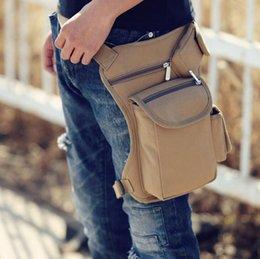 Wholesale Ride canvas waist pack outdoor tactical function leg pockets bag man bag sports gear bags