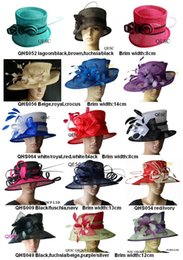 Wholesale BIG Design dress wedding bridal organza sinamay hat Ladies Hat fascinator for Kentucky Derby Ascot church races