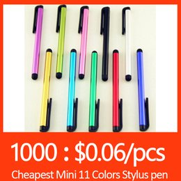 Universal Stylus Touch Screen Pen For ipad iphone Samsung HTC capacitance touch screen Tablet PC 10 Colors For S7 edge S6 S6 edge iPhone SE