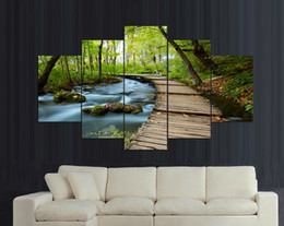 Wholesale Home decor Woods streams Print Painting wall art Print on canvas decoration home modern set wall frames