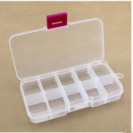 Wholesale mmx70mmx22mm component box electronic IC chip SMT box screw box ten lattices storage tool box red button