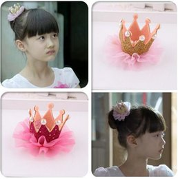 Children's hair accessories korea style girls crown princess pearl headdress hairpin Cute barrettes crown headbands for baby girls