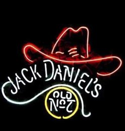 New jack DANELS Glass Neon Sign Light Beer Bar Pub Arts Crafts Gifts Sign Size:19""