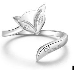 Precio más bajo por mayor de china en venta-1,86 gramos diseño simple caliente china auténtica plata de ley 925 anillo de la joyería llano amor zorro bajos precios al por mayor