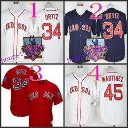 Wholesale David Ortiz Retirement pedro martinez Baseball Cool Base Jerseys Authentic Stitched Jersey Softball Sportswear