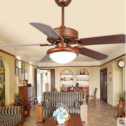 Restaurant continental antique electric pendant Fan lights living room bedroom dining room fan light