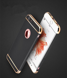 Case For Iphone 7 Plus Cases Film Full Cover Coverage Hard Case Cover 3 In 1 Slim Luxury Plating PC Backcover