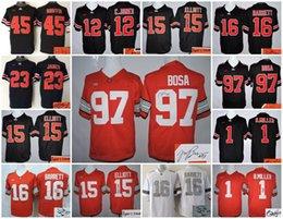 Wholesale A1 Football Ohio State Buckeyes Men Mil Jones Elliott BARRETT James Griffin Bosa signature stitched jersey