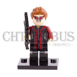 Wholesale Hawkeye Clint Barton with Bow MARVEL SUPER HEROES THE AVENGERS Assemble Minifigures Model DIY Building Blocks Kids Toy Gift