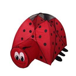 Wholesale summer Indoor outdoor Very cute catoon Lady beetle cloth castle House tent child park picnic holiday game play tent baby toy