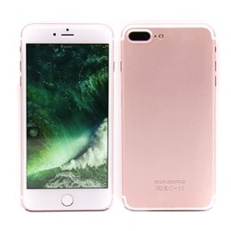 Wholesale 5 inch goophone I7 plus cellphone M G quad core MTK6580 can show fake G G G LTE GPS unlocked phone